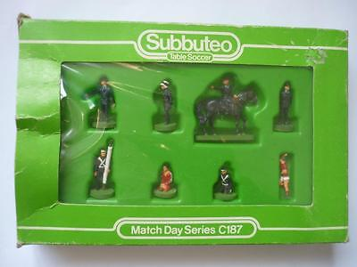 Subbuteo Football Accessories C187/4 Match Day Series Emergency Services Boxed
