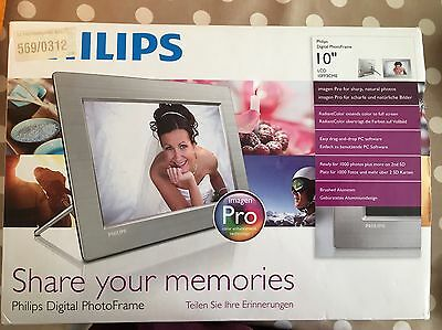 Phillips Digital Photo Frame 10 Inch (silver) BRAND NEW IN BOX!
