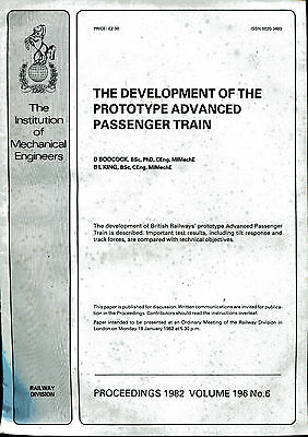 THE DEVELOPMENT OF THE PROTOTYPE ADVANCED PASSENGER TRAIN by Boocock Inst Mech