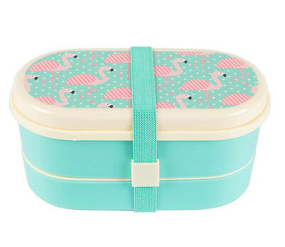 Tropical FLAMINGO Bento Snack LUNCHBOX Brotzeitdose - SET Rockabilly