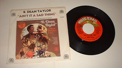 US 1971 R DEAN TAYLOR AINT IT A SAD THING RARE EARTH R 5023 picture cover record