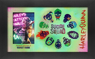 "Margot Robbie signed 6"" x 4"" Suicide Squad montage display"