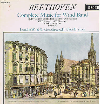 BEETHOVEN complete music for wind band - Jack Brymer - LP DECCA sxl 6170 mint