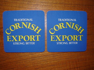 2  Devenish  Cornish  Export  Beer  Mats / Coasters  New