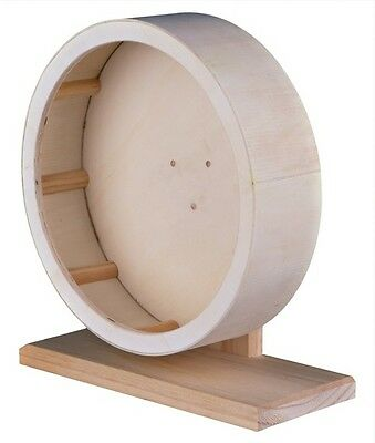 New - Trixie Wooden Pet Cage Exercise Wheel 3 Sizes Hamster Gerbil Wheels