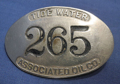 Vintage Antique Tidewater Associtated Oil Company Employees Badge Flying A