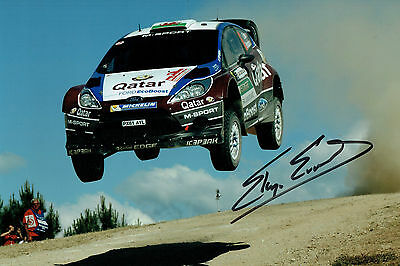 Elfyn EVANS WRC Welsh Rally Ford DRIVER SIGNED AUTOGRAPH 12x8 Photo AFTAL COA