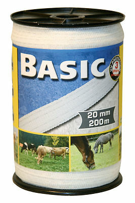 CORRAL BASIC ELECTRIC FENCING TAPE 200m x 20mm  horse / pony