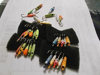 200 x 1/64oz,YP HOOKS, FANCY HAND PAINTED ICE JIGS.FISHING Tackle,TIN JIGS,LURE