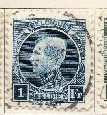 Belgium 1921-25 Early Issue Fine Used 1F. 130837