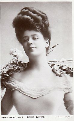 Vintage Postcard Camille Clifford Actress Edwardian Beauty Gibson Girl Rp