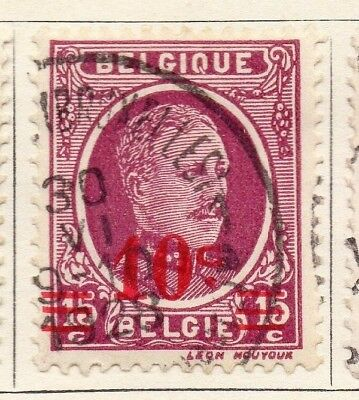 Belgium 1927 Early Issue Fine Used 10c. Surcharged 130866