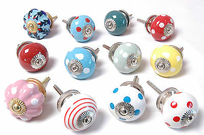 12 - Mixed Bright Coloured Cupboard Drawer Kitchen Handle Cabinet Knobs (MG-117)