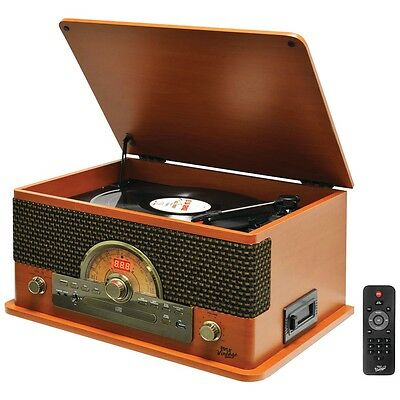 Pyle Pro Retro-style Bluetooth Turntable With Vinyl To Mp3 Recording, Cd Player