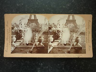 Stereoview Image Fountains Of The Trocadero And Expostion Grounds Paris 1900