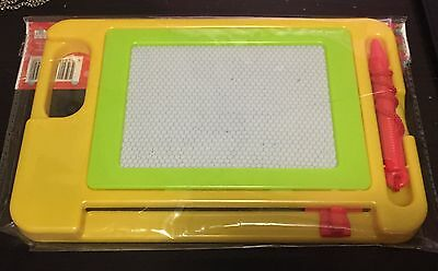 Kids Baby Plastic Magnetic Drawing Board Study Learn Creative Yellow Base