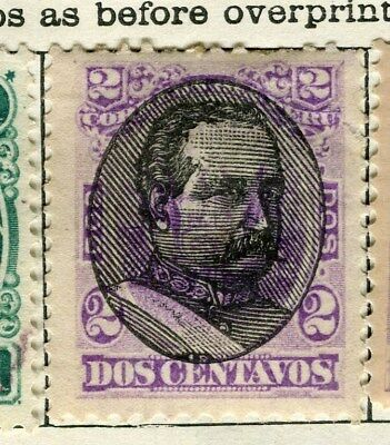 PERU;  1894 early classic Optd.  issue fine Mint hinged 2c. value