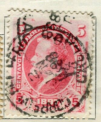 PERU;   1897 early classic issue fine used  5c. value
