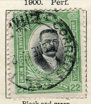 PERU;   1900 early classic issue fine used  22c. value