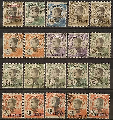 Indochine, Tchongking,  Lot De 20 Timbres