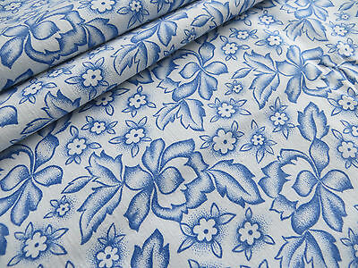 """Unused  Romantic Pillowcase Euro Sham Cover  Blue Floral Pattern 31"""" by 31 """""""