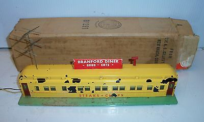 American Flyer 767 S Or O Scale Lighted Branford Diner With Box - Light Works