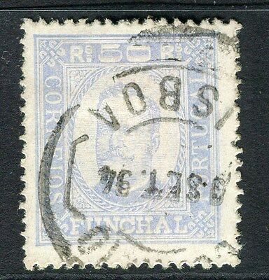 PORTUGUESE FUNCHAL;  1892 early classic Carlos issue fine used 50r. value