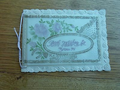 Vintage Celluloid & Paper Greeting Card From Loving Husband To My Dear Wife Used