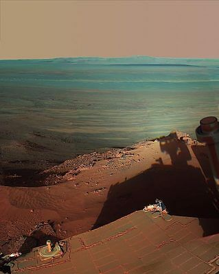Mars Late Afternoon Shadows at Endeavour Crater 11x14 Silver Halide Photo Print
