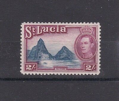 St Lucia 1938 Kgvi 2/- Lightly Hinged Mint