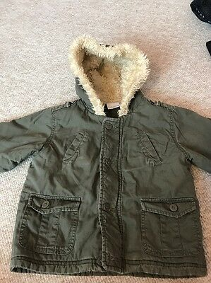 Ladybird Boys Jacket 12-18 Months Old Fur Lined