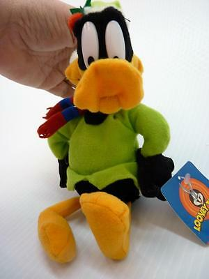 "2002 NANCO Looney Tunes Daffy Duck Christmas Elf 10"" tall w/ tags (pt833)"
