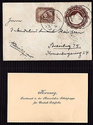 1897 EGYPT SMALL COVER + BUSINESS CARD STAMPS Rare Collection