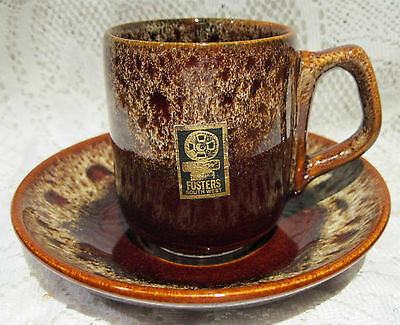 """A """"fosters"""" South West Cup And Saucer Honeycomb Pattern - Good Condition"""
