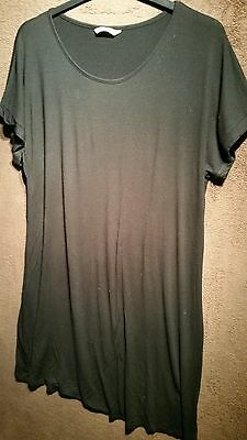 Ladies *GEORGE* Black Stretch T-Shirt Dress/Top (Above Knee Length) Plus Size 18