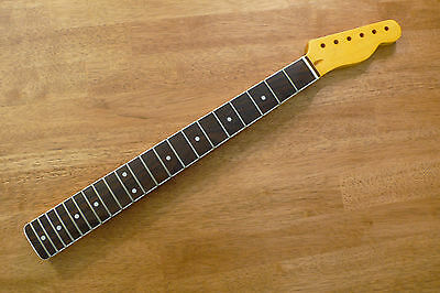 Guitar Neck Rosewood Mother Of Pearl Dot Inlay White Binding For Telecaster