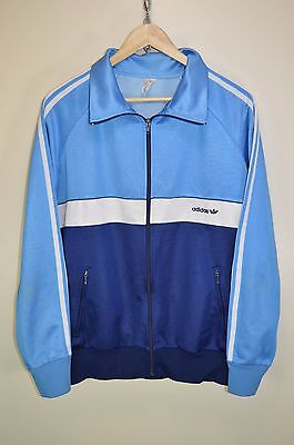 vtg 70s ADIDAS OLDSCHOOL CASUALS RETRO TRACK JACKET TRACKSUIT TOP SIZE D7 LARGE