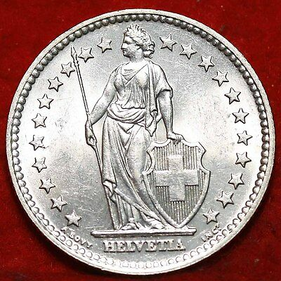 Uncirculated 1958 Switzerland 2 Francs Silver Foreign Coin Free S/H