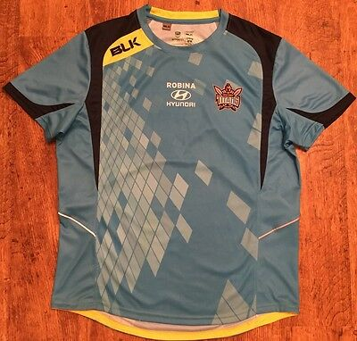 Gold Coast Titans training top nrl rugby league shirt jersey XL Immaculate