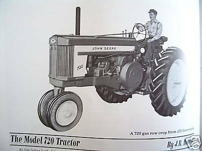 John Deere Model 720 Tractor and New Generation Tractor Claims 1010 3010 4010