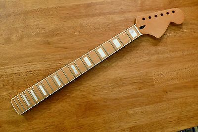 Guitar Neck Maple Mother Of Pearl Block Inlay White Binding For Stratocaster