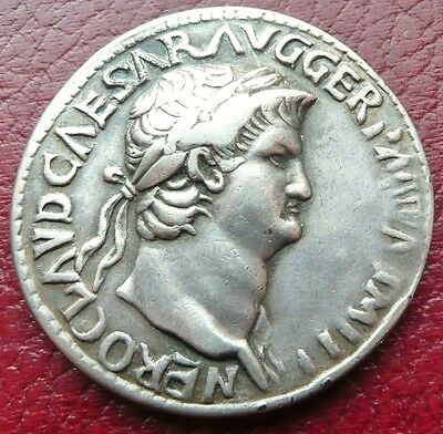 Silver Nero Coin / Medal Modelled From Sestertius Issue - Renaissance Period?