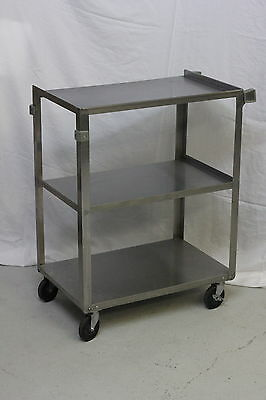 """Update Commercial 24"""" x 16"""" Stainless Steel 3 Shelf Cart"""