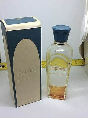OLD RETRO VINTAGE 50s COTY IMPREVU PERFUME BOTTLE VERY RARE in BOX Collectable