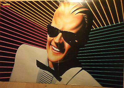 1 german poster MAX HEADROOM CYBERPUNK SCIENCE FICTION SERIES TV ACTOR SINGER