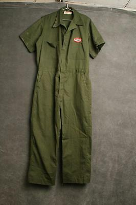 Vintage Texaco Coveralls employee service advertising gas station GREEN oil suit