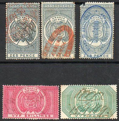 ORANGE FREE STATE  FISCAL STAMPS incl £5