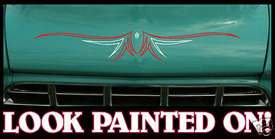 2x Custom Rat, hot rod Pinstripe decal sticker #1
