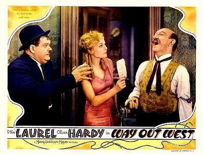 LAUREL And HARDY With JAMES FINLAYSON In WAY OUT WEST 11x14 LC Print 1937