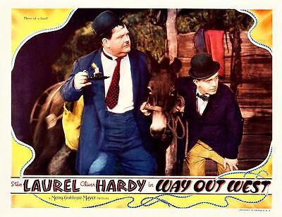 LAUREL And HARDY Three Of A Kind In WAY OUT WEST 11x14 LC Print 1937